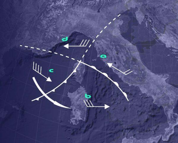 vento e mare nelle perturbazioni